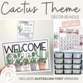 Cactus & Succulent Classroom Decor Bundle