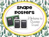Cactus | Succulent Classroom Decor: Shape Posters