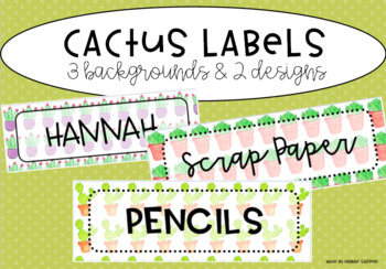 Cactus & Succulent Classroom Labels
