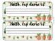 Cactus Succulent Classroom Name Tags Desk Plates