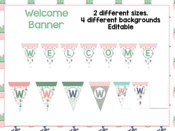 Cactus/Succulent Classroom Theme Bundle- Editable