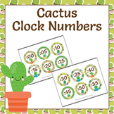 Cactus Succulent Clock Number Labels
