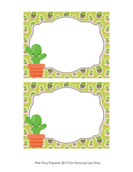 Cactus Succulent Flat Thank You Note Cards