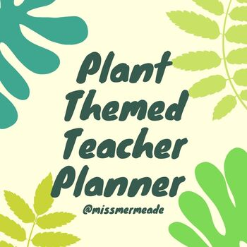 Cactus Succulent Plant Themed Teacher Planner MAMBI Happy Planner HP Printable