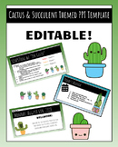 Cactus & Succulent PowerPoint Template   EDITABLE
