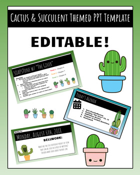 Cactus & Succulent PowerPoint Template | EDITABLE