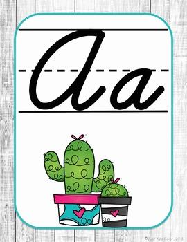 Cactus Succulent Shiplap Classroom Décor - EDITABLE