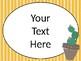 Cactus - Succulent - Southwest Theme Classroom Posters-Landscape {EDITABLE}