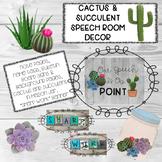 Cactus & Succulent Speech Room Decor