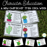 Cactus & Succulent Themed Character Education - Character Trait of the Week