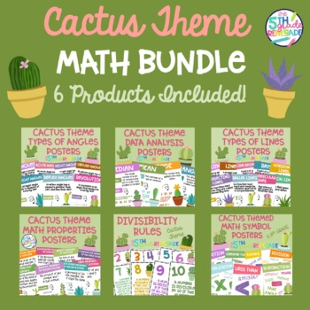 Cactus Succulent Themed Math Bundle **6 Products Included**