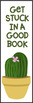 Cactus Succulent Themed Reading Bookmarks Ink Friendly