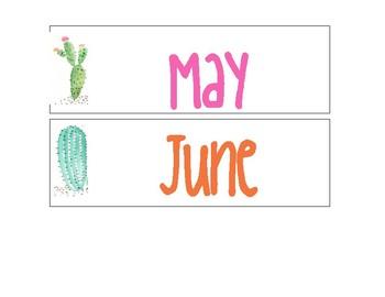 Cactus Succulent calendar set