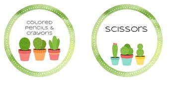 Cactus Supply Cup Labels