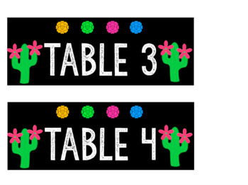 Cactus Table Labels