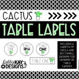 Cactus Classroom Decor: Table Labels
