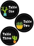 Cactus Table Labels