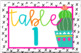 Cactus Table Numbers-Classroom Decor