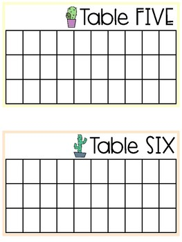 Cactus Table Points