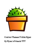 Cactus Table Signs