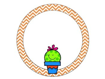 Cactus Table and Classroom Numbers {Editable}