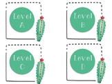 Cactus Target Label Pockets - Guided Reading Levels A-Z