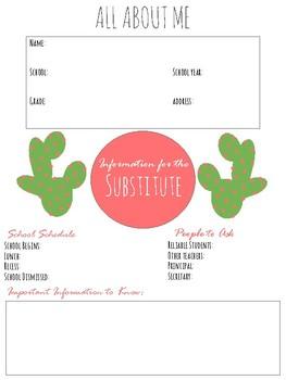 Cactus Teacher Planner
