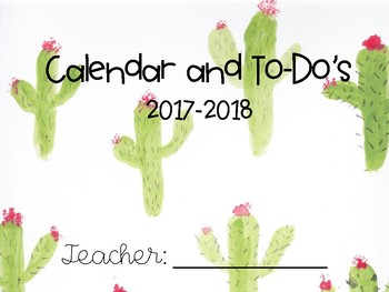 Cactus Teacher Planner & To-Do Lists - FREE UPDATES!!!