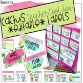 Cactus Teacher Tool Box Editable Labels