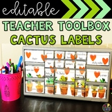 Cactus Teacher Toolbox Labels