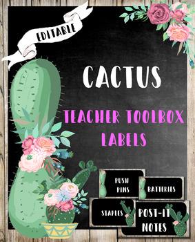 Cactus Teacher Toolbox Labels