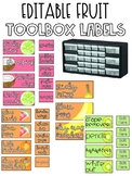 Tropical Teacher Toolbox Labels EDITABLE