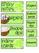 Tropical Fruit Teacher Toolbox Labels EDITABLE
