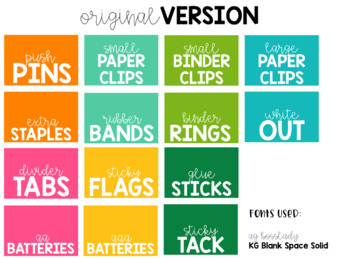 Cactus Teacher Toolbox Labels {Editable}