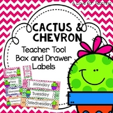 Cactus Teacher Toolbox and Drawer Labels {Editable}