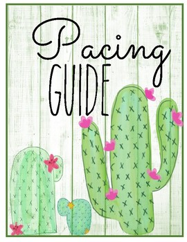 cactus template for pacing guide scope sequence curriculum mapping