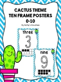 Cactus Ten Frame Number Posters Chevron