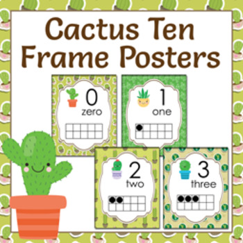 Cactus Ten Frame Posters - 0 to 20