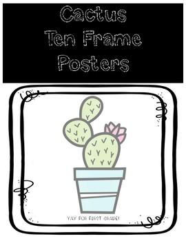 Cactus Ten Frame Posters 1-20