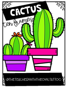 Cactus Ten Frames
