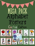 Cactus Theme Alphabet Posters