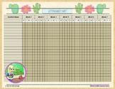 Cactus Theme Attendance Sheet