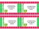 Cactus Theme Behavior Punch Cards
