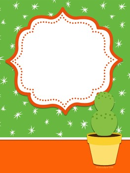 Cactus Theme Binder Covers I