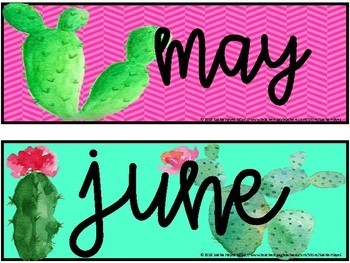 Cactus Theme Calendar