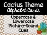 Cactus Theme Classroom Decor: Alphabet Cards