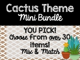 Cactus Theme Classroom Decor: Build Your Own Mini Bundle