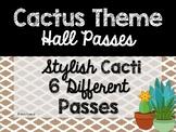Cactus Theme Classroom Decor: Hall Passes
