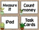 Cactus Theme Classroom Decor: Math Center Labels