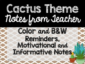 Cactus Theme Classroom Decor: Notes from Teacher
